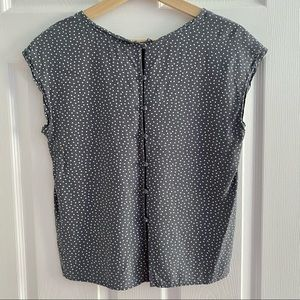 A&F Polka Dot Blouse with Button Detail Size Small